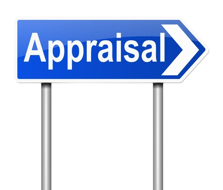 appraisal: Illustration depicting a sign with an appraisal concept.