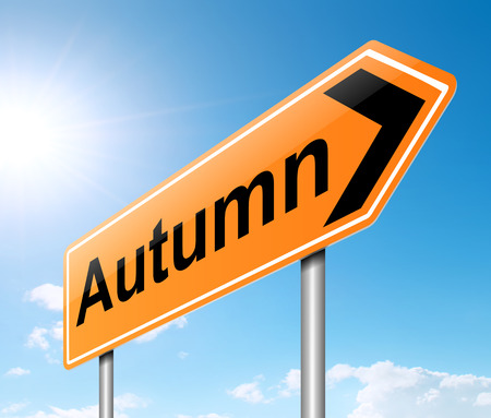 equinox: Illustration depicting a sign with an Autumn concept.