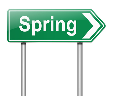 directing: Illustration depicting a sign directing to Spring.