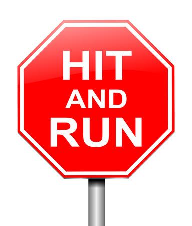 no correr: Ilustraci�n que muestra una se�al con un hit y el concepto de ejecuci�n.