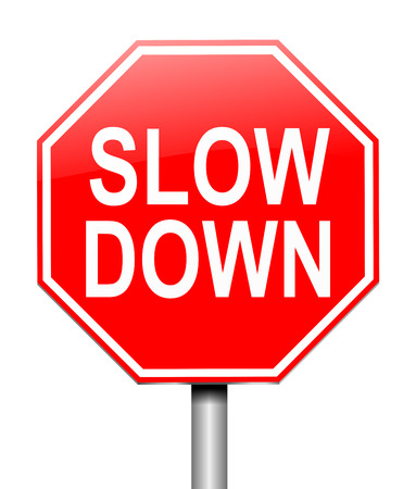 slow down: Illustration depicting a sign with a slow down concept.