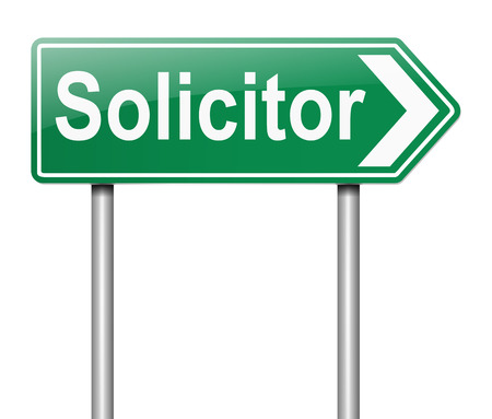 solicitor: Illustration depicting a sign with a Solicitor concept.