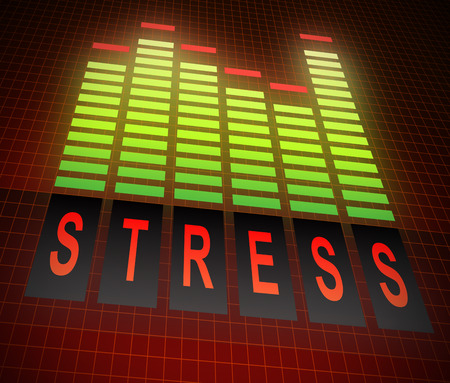Illustration depicting graphic equalizer bars with a stress concept. illustration