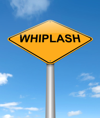 hazard damage: Illustration depicting a sign with a whiplash concept. Stock Photo