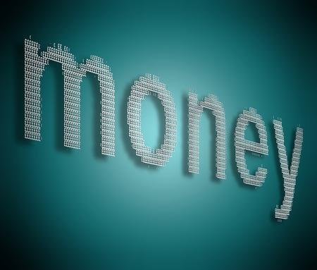 fondos negocios: Ilustración que muestra muchos signos de libra de plata formados para organizar la palabra dinero. Foto de archivo