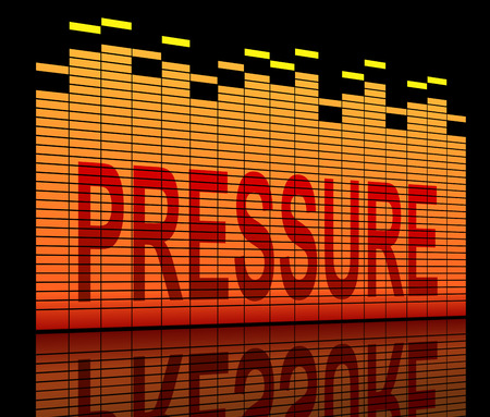 hassle: Illustration depicting equilizer levels with a pressure concept. Stock Photo