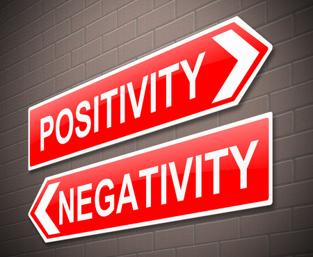 Illustration depicting a sign with a positive or negative concept.