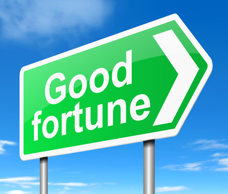 fortune concept: Illustration depicting a sign with a good fortune concept.