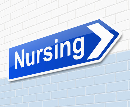 treating: Illustration depicting a sign with a nursing concept.