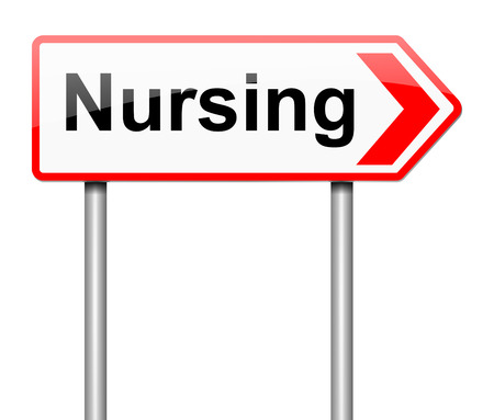 nursing staff: Illustration depicting a sign with a nursing concept.