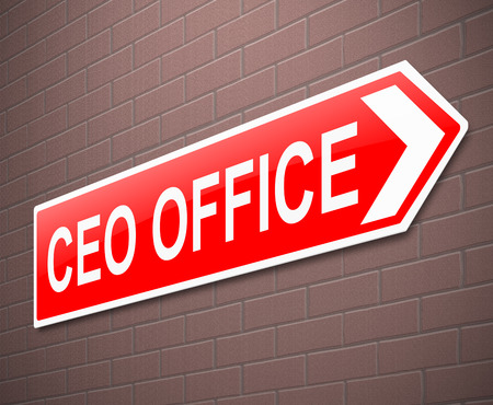 ceo: Illustration depicting a sign directing to CEO Office.