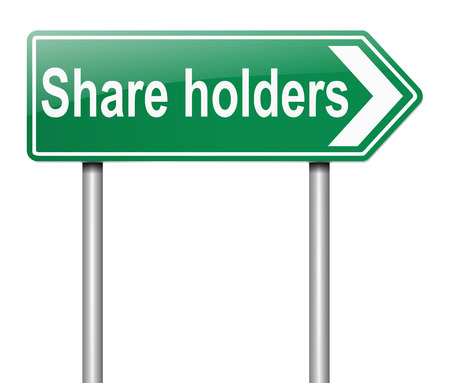 stockholder: Illustration depicting a sign with a share holders concept.
