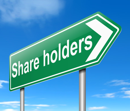 bonds: Illustration depicting a sign with a share holders concept.