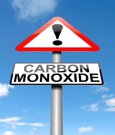 carbon emission: Illustration depicting a sign with a Carbon Monoxide concept.