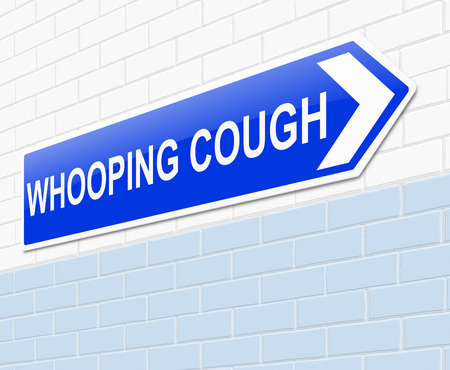 infectious disease: Illustration depicting a sign with a whooping cough concept.