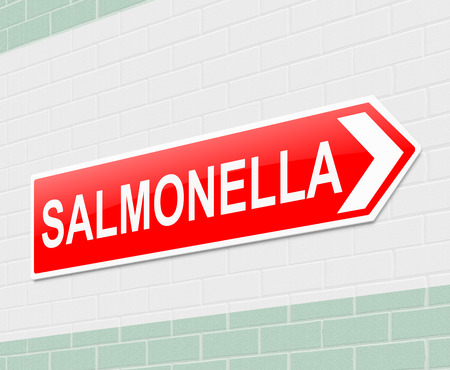 Illustration depicting a sign with a salmonella concept. illustration