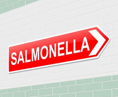 monella: Ilustraci�n que muestra una se�al con un concepto de salmonella. Foto de archivo