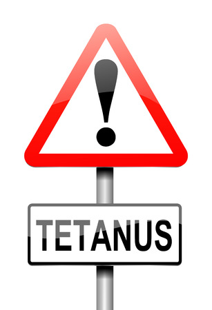 tetanus: Illustration depicting a sign with a Tetanus concept. Stock Photo