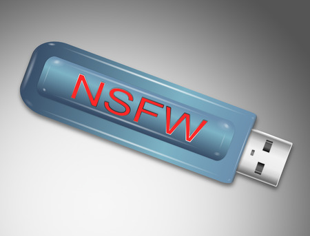 abbreviated: Illustration depicting a usb flash drive with a NSFW concept.