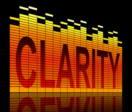clarity: Illustration depicting graphic equalizer level bars with a clarity concept. Stock Photo