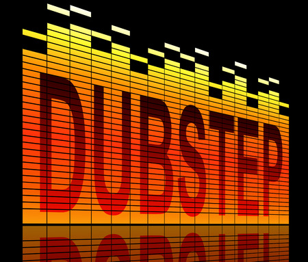 Illustration depicting graphic equalizer levels with a dubstep concept.