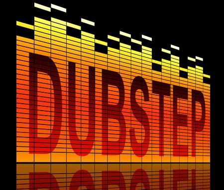dubstep: Illustration depicting graphic equalizer levels with a dubstep concept.
