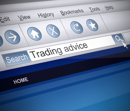 retailing: Illustration depicting a screenshot of an internet search with a trade concept.