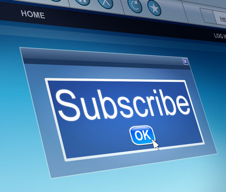 promising: Illustration depicting a screen capture with a subscribe concept. Stock Photo