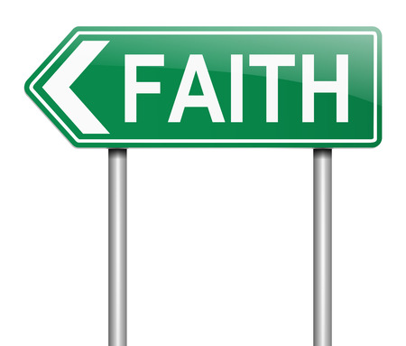 constancy: Illustration depicting a sign with a faith concept.