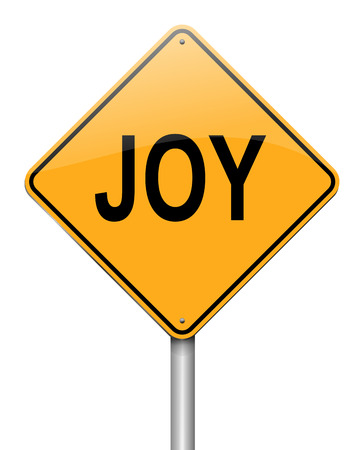 glee: Illustration depicting a sign with a joy concept.
