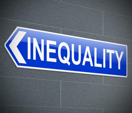 biased: Illustrazione raffigurante un cartello con un concetto di uguaglianza. Archivio Fotografico