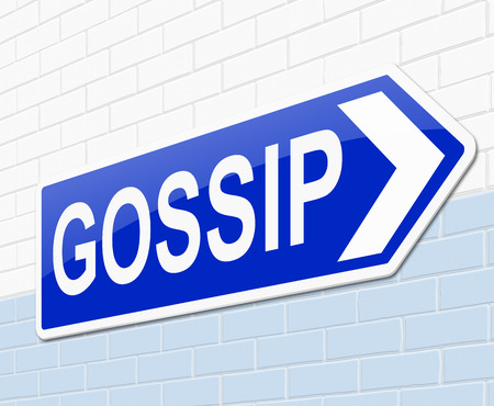 chit chat: Illustration depicting a sign with a gossip concept. Stock Photo
