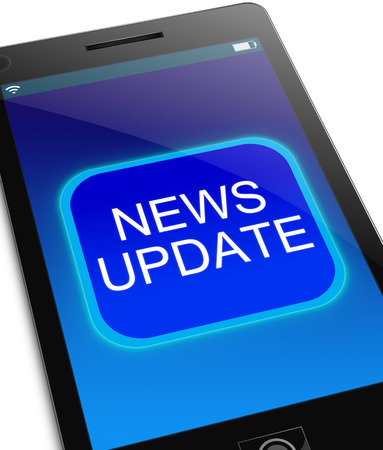 news update: Illustration depicting a phone with a news update concept.