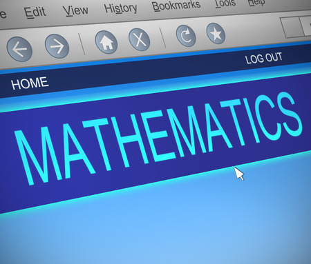 sums: Illustration depicting a computer screen capture with a mathematics concept.