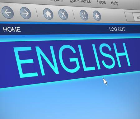 Illustratie geeft een computerscherm vastleggen met een Engels taal concept. Stockfoto - 29217744