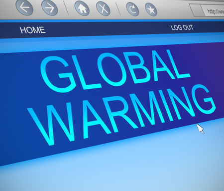 Illustration depicting a computer screen capture with a global warming concept. illustration