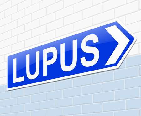 lupus: Illustration depicting a sign with a Lupus concept.