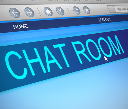 chat room: Illustration depicting a computer screen capture with a chat room concept.