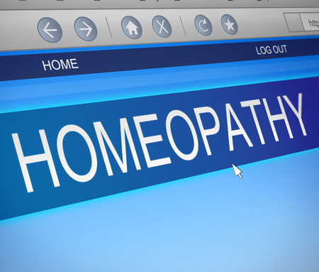 homeopath: Illustration depicting a computer screen capture with a Homeopathy concept.