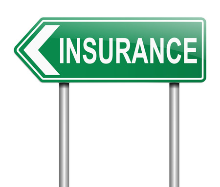 claim: Illustration depicting a sign with an insurance concept. Stock Photo