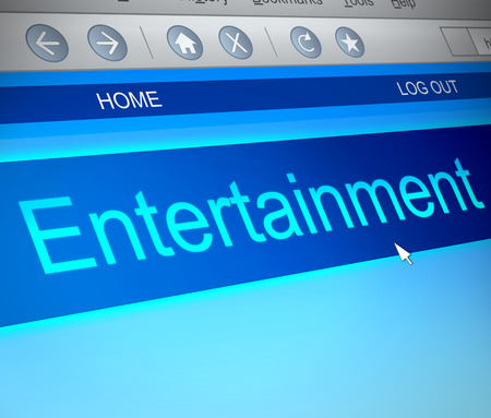 listings: Illustration depicting a computer screen capture with an entertainment concept.