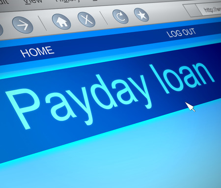 payday: Illustration depicting a computer screen capture with a payday loans concept.