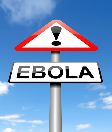 ebola: Illustration depicting a sign with an Ebola concept.