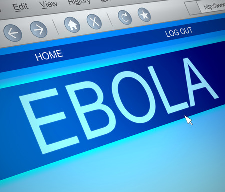 ebola: Illustration depicting a computer screen capture with an Ebola concept.