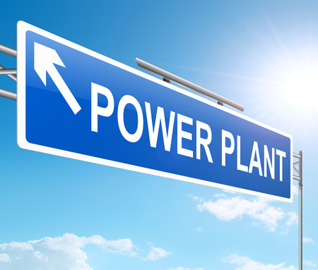 powerstation: Illustration depicting a sign with a power plant concept.