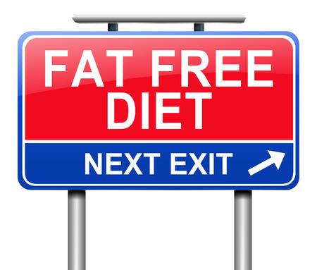 지방 무료 다이어트 개념으로 기호를 묘사 한 그림.