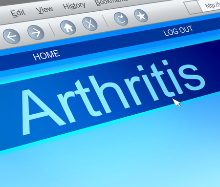 arthritic: Illustration depicting a computer screen capture with an arthritis concept.