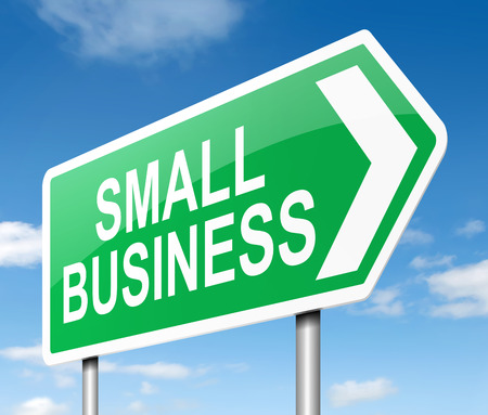 small business: Illustration depicting a sign with a small business concept.