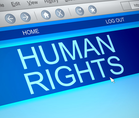 liberties: Illustration depicting a computer screen capture with a Human Rights concept.