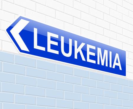 leucemia: Ilustraci�n que muestra una se�al con un concepto de la leucemia.